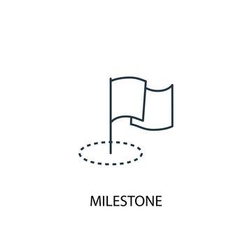 Milestone concept line icon. Simple element illustration