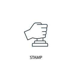 Stamp concept line icon. Simple element illustration
