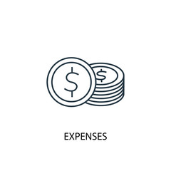 Expenses concept line icon. Simple element illustration
