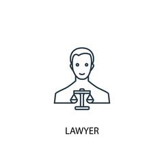 lawyer concept line icon. Simple element illustration