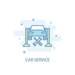 car service trendy icon. Simple line, colored illustration