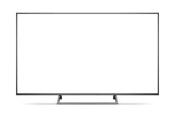 TV 4K flat screen lcd or oled, plasma realistic illustration, White blank HD monitor mockup with clipping path Fototapete