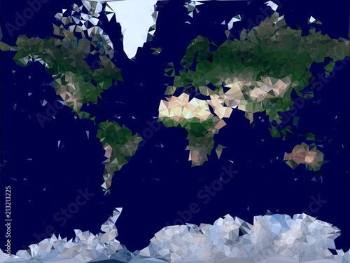 World map low poly vector illustration physical global map world map low poly vector illustration physical global map consisting of small triangles gumiabroncs Image collections