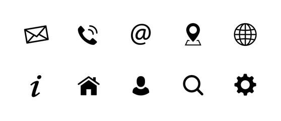 Web Kontakt Symbole