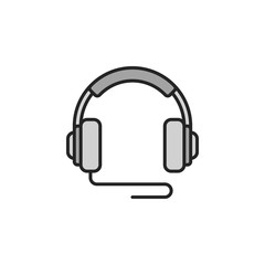 Over-Ear Wired Headphones vector icon or symbol