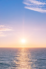 Sonnenuntergang auf dem Meer