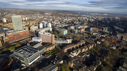 Aerial View of Sheffield City Centre