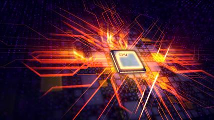 Plasma CPU transmits zigzag energy signals