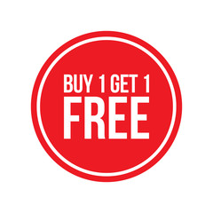Buy One Get One Free Sign Numbers Circular