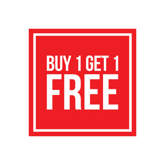 Buy One Get One Free Sign Numbers Square