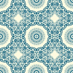 Art-deco floral pattern. Seamless. vector illustration. For invitation wedding, valentine's, background, wallpaper.
