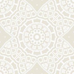 vector illustration. pattern with floral mandala, decorative border. design for print fabric, super bandana