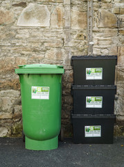 Various Sizes of Recycling Bins