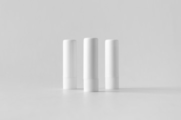 Lip balm packaging mock-up.