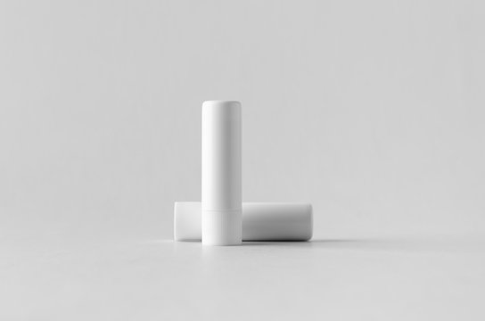 Lip balm packaging mock-up.