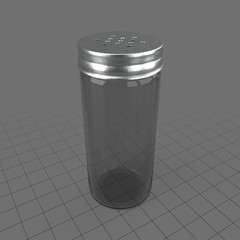 Flat lid condiment shaker