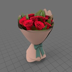 Tied bouquet of roses