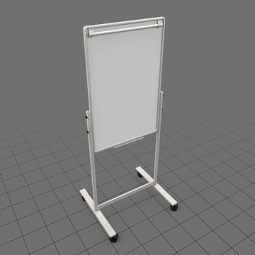 Tall whiteboard on wheels