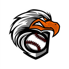 Eagle Head Baseball Team Logo