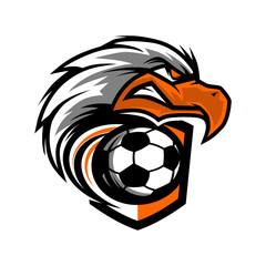 Eagle Head Football Team Logo