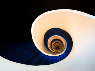 Foto auf Acrylglas Spirale abstract spiral staircase