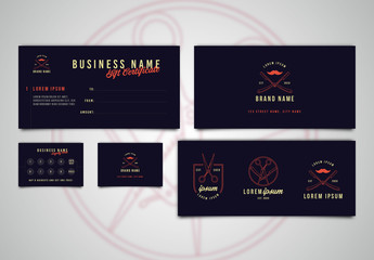 Dark Blue Logo and Print Collateral Set