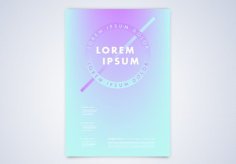 Event Poster Layout with Blue and Purple Gradients
