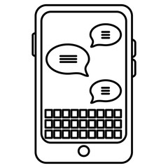 smartphone device with speech bubbles