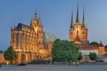 Dom Erfurt beleuchtet