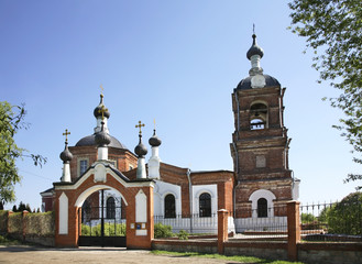 Church of the Exaltation of Cross in Yusupovo village. Domodedovo district. Moscow oblast. Russia
