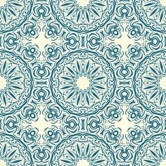 pattern with geometric color elegant ornament, design for print fabric, bandana. vector illustration. blue tone