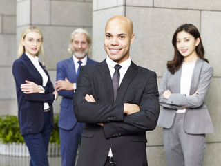 portrait of multinational and multiethnic business team