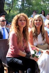 Colombian singer Shakira visits Tannourine Cedars Reserve, in Tannourine