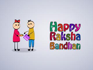 Illustration of background for the occasion of hindu religion festival Raksha Bandhan