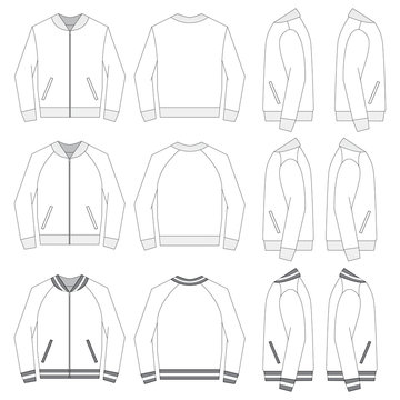 Vector template for Bomber Jackets