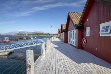 House on the pier edge