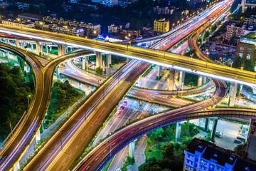 busy traffic in urban