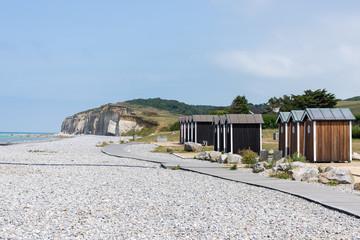 Cabines de plage à Sainte-Marguerite-sur-Mer