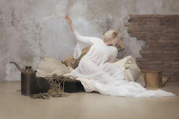 Portrait of reclining woman