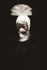 Portrait of mysterious woman
