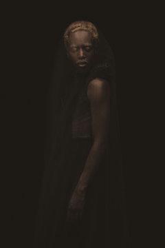 Portrait of woman standing