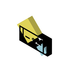 Money isometric right top view 3D icon