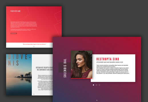 Presentation Layout with Colorful Accents