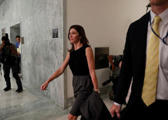Former FBI lawyer Page arrives for House Judiciary Committee deposition on Capitol Hill in Washington