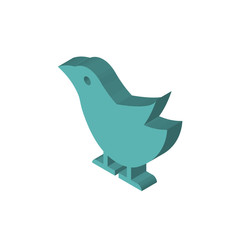 Seagull isometric right top view 3D icon