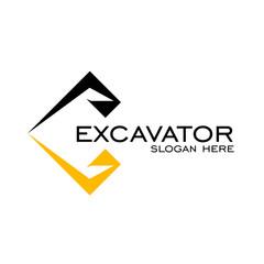 Excavator logo design. simple logo creative design, vector icon.