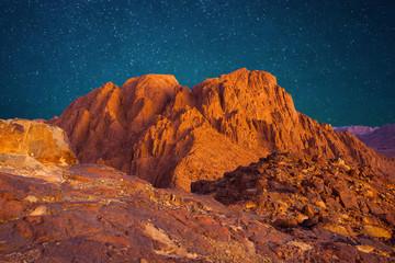 Mount Sinai, Mount Moses in Egypt. Africa