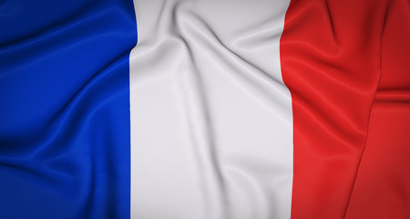 France National Flag Background.