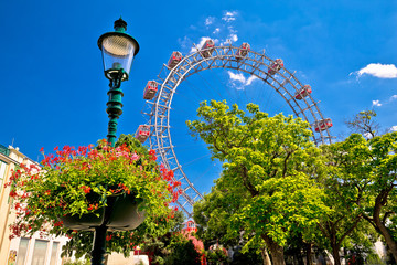 Self adhesive Wall Murals Vienna Prater Riesenrad gianf Ferris wheel in Vienna view