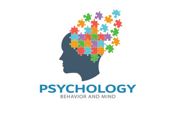 Psychology Brain puzzle imagination Logo Vector Illustration